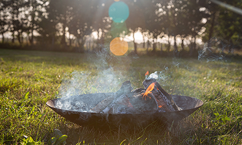 Image of a fire burning in a firepit